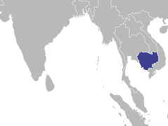 Carte de la région : Cambodge