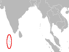Carte de la région : Maldives